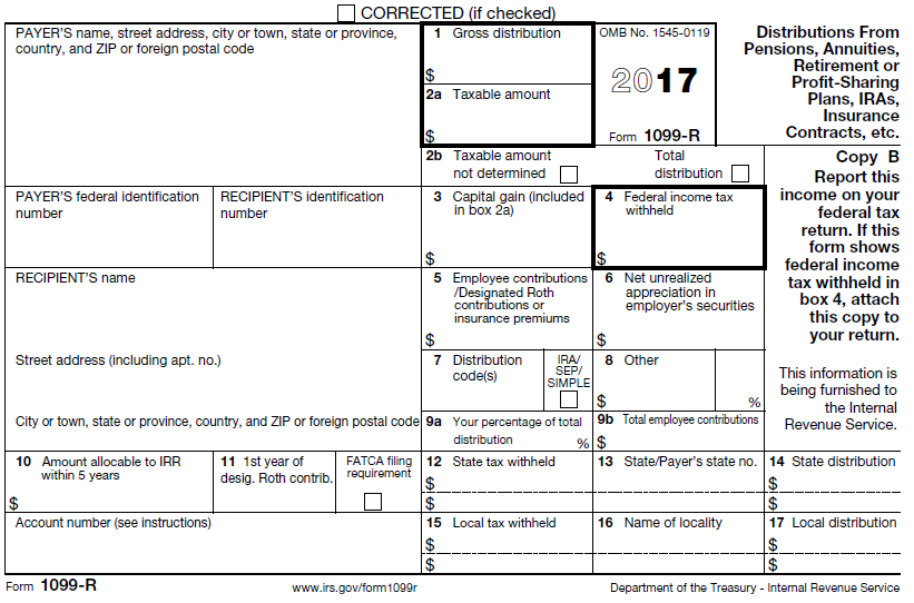 What does the distribution code on the R Form mean