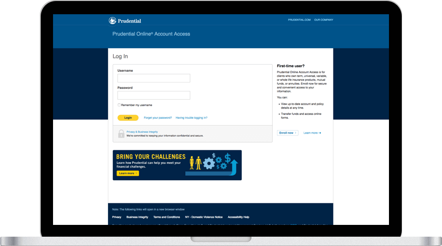 Log In Prudential Financial