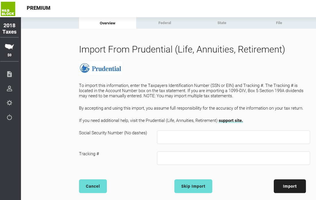 Import from Prudential(Life, Annuities, Retirement)